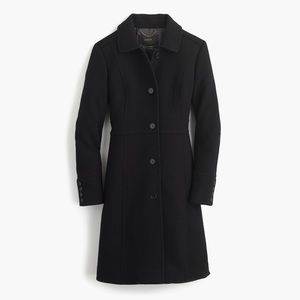 🆕 J. Crew Petite Black Italian Wool Lady Day Coat